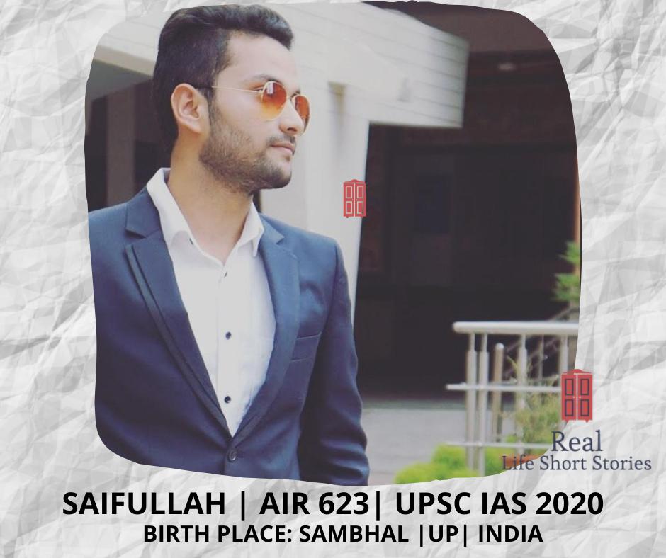 saifullah sambhal upsc ias 2020 rank 623